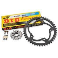 Superlite 520 Steel Sprocket Set w/D.I.D. 520VM Gold X'Ring Chain - Ducati 750SS 00-02