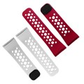 LifeTrak comfortfit wristband DUO Pack Red Black and White Black