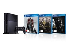 PlayStation 4 Console Black with Bloodborne and The Order 1886 and The Last of Us