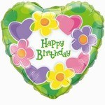 Happy Birthday - Hearts and Flowers (Balloon-In-A-Box)