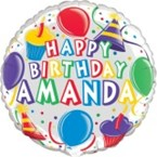 Personalised Birthday Balloon - Cupcake Theme  (Balloon-In-A-Box)