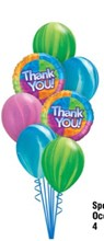 Thank You Bright Balloon Bouquet