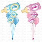 Welcome Baby Bottle Bouquet Pink/Blue