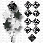 BIRTHDAY BALLOONS BOUQUET 18TH 21ST 30TH 40TH 50TH 60TH 70TH 80TH