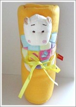 Baby Boo Yellow Hippo Blanket