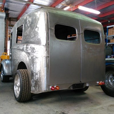 Morris J Type van with hand fabricated rear doors