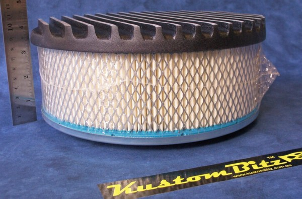 16 Inch Air Cleaner : Air cleaner inch flat top finned black with
