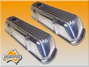 Holden V8 253, 308 Alloy Rocker Covers suit early heads - Finned Polished