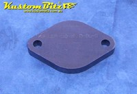 Hot Rod Chassis Crossmember Back Plate - Blank, Diamond Round, 12mm thick