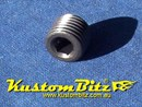 NPT Plug 1/4 inch pressure plug Mild Steel Black - Perfect for Oil galleries in engine block 1/4