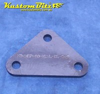 Hot Rod Chassis Crossmember Front Plate - Blank, Triangle, 8mm thick