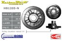 Ford 302, 351 Windsor V8 Powerbond Harmonic Balancer 4 Bolt. [Raised pulley location] - OEM Replacement