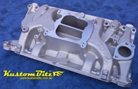Holden 253 308 Edelbrock Performer 4 barrel intake manifold dual plane - V8 [early heads]