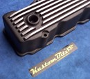 Chrysler Valiant HEMI 6 Pack Valve Cover - Black Finned 7 Fin