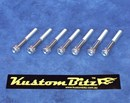 Holden V8 Bolt Kit - Valve Cover Standard late 308 VN style heads ~ bolts only [KustomBitz Silverz]