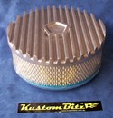 Air Cleaner 9 inch Finned RAW [Shot Blasted] Chrysler Star with 3 inch element - Holley diameter 5' 1/8' inch neck