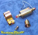 Fuel Pump Electric - Barrel Style motor Pump delivers 1.9 - 2.2 litres per minute