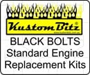 Holden 6 Cyl Bolt Kit 186 & 202 Bolt Kit - Complete replacement standard black engine bolts [Blackz]