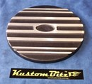 Air Cleaner 9 inch Ford Oval Black - TOP ONLY