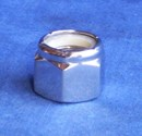 Mirror Topz - Nylock Nut UNC 3/8 inch hand Polished Stainless Steel