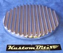 Air Cleaner 9 inch Flat Top Finned POLISHED - TOP ONLY