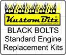 Holden 6 Cyl Bolt Kit 186 & 202 - Standard Side Plates black bolts Only [Blackz]