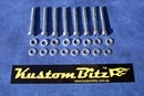 Ford Bolt Kit - suit standard Crossflow Valve covers with 6mm AussieSpeed spacer Silverz