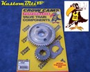Holden six Timing gears 186 and 202 - Angle Cut Gears [for quieter running] Multiple keyed