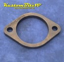 Exhaust Flange Plate 2 bolt 2 1/2  inch 10mm thick ~ Mild Steel