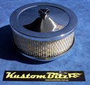 Chrome Air Cleaner 6 inch - Holley 4 barrel diameter 5' 1/8' inch neck
