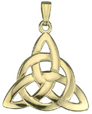S4244 - Trinity Pendant,This beautiful trinity knot is a variation on the classic knot.