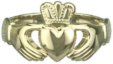 S2532  - Gents Heavy Traditional Ring , classic Claddagh symbol. The hands represent Friendship, the heart Love, and the crown Loyalty.
