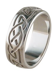 ID311 Eternity - Mens Comfort fit, it is perfect for a man who prefers a traditional wedding ring, with subtle celtic symbolism.