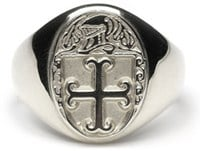 Heraldic Ring - L150 - SilverThis ladies ring is made to order in your family crest. It is Sterling Silver and made in Ireland ,