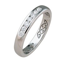 ID324D   Hidden Eternity Narow With Diamonds,This simple gold band hides an eternity knot, it has 7 diamonds.