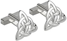 S6434 - Trinity Cufflinks , These cufflinks shows the Trinity knot symbol.