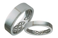 ID324N   Hidden Eternity Narrow,This simple gold band hides an eternity knot on the inside, 9ct gold.