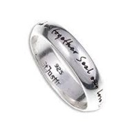 lovely sterling silver english love ring is unique and as a inscription which reads as, Entwine us forever ,