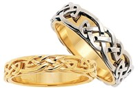 ID320 Infinity- MensIf you are looking for a two tone ring (white and yellow gold) this rings contrast is not the most obvious, as it's weave sits on top of its base with no trims.,