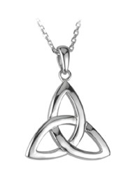 14ct White Gold  Trinity Pendant