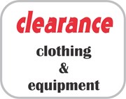 on sale - clothing/equipment