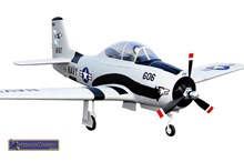 FMS T-28 Trojan Brushless Warbird with Worm Drive Retract System.