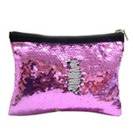 Sequin cosmetic pouch - 15 x 20 cm Purple