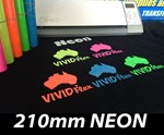 NEON 210mm Vivid Flex Heat Transfer Vinyl per metre