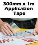 Application Tape for Adhesive Vinyls 300mm PER METER