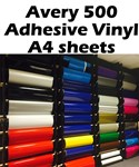 Avery 500 GLOSS Adhesive Vinyl A4 sheets