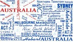 Word Flag- Australia 6 Pack