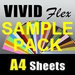 A4 Vivid Flex Heat Transfer and Avery 500 vinyl Sample Pack, with free* shipping