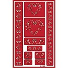 Over n Over Glass Etching Stencil - ONO Floral Border 1