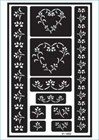 Over 'N' Over Re-usable Glass Etching Stencil - HEARTS